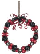 Sleigh Bells 24cm Metal and Jute Rope Christmas Wreath Decoration