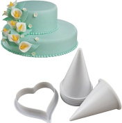 Joinor Cake Decorating Kit Gumpaste Flowers & The Easiest Calla Lily Former Cutter Set of 7