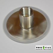 JaybirdTM Wide Mouth Canning Jar Lid with 1.3cm NPT Full Coupling