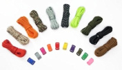 Zacro 180kg Survival Paracord Combo Crafting Kits in 3m in 10 Colours with Pack of 10 Buckles