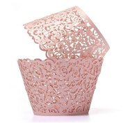 Tinksky Cupcake Wrappers Laser Cut Wrap Case Decor Wedding Shower Wrap 50 Pack