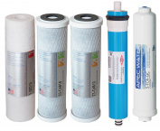 APEC Water Systems FILTER-MAX90-38 ULTIMATE Series 90 GPD Complete Replacement Filter for Undersink System with 1cm Quick Dispense Upgrade