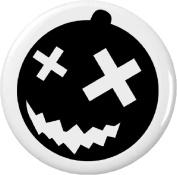 Black Goth Halloween Pumpkin Crooked Smile 5.7cm Bottle Opener w/ Keyring Emo Punk