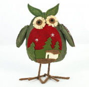 Welcomeuni Christmas Ornaments Christmas Ornaments Linen Owl Plush Doll Gift Aberdeen
