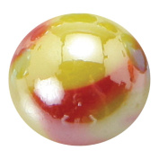 """Giant Glass """"Solar"""" Marble 35 mm (1.3 Inch) Diameter with Stand"""