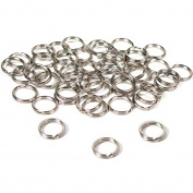 BFlowerYan 50 Split Rings Nickel Plated 9mm