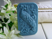 Beautiful Rectangular Lucky Peacock Silicone Mould for Soap Art Craft Making