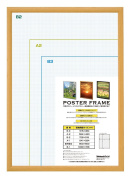 Lightweight wooden poster frame B2 Natural