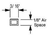 EconoSpace� Art and Glass Separator 0.3cm 30m Bundle 20, 1.5m Pieces - Black