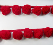 Giant Jumbo Red Pompom Extra Big Bobble Ball Fringe Trim Needlework Craft Sewing Supplies