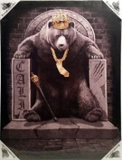 DGA Day of the Dead Stretched Canvas Wood Framed Wall Art 30cm x 41cm - King of Cali Bear