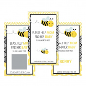 Set of 12 Scratch Off Game Cards for Baby Shower Games with Bumble Bee SC115