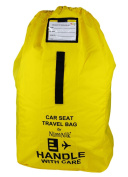 Car Seat Travel Bag - Ultra Rugged Ballistic Nylon, Best for Airport, Aeroplane Gate Cheque, Comfortable Padded Shoulder Strap And Carry Handle, Yellow