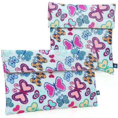 Ava & Kings 2 Pack On The Go Reusable Insulated Kids Snack Coolers - Butterflies