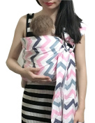 Vlokup Baby Ring Sling Carrier for Newborn Original Adjustable Infant Lightly Padded Wrap Breastfeeding Privacy 100% Cotton Colour Wave