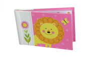 """Baby Photo Album 4 x 6 Brag Book """"Jungle Friends Girl"""" - Baby Shower Gifts, - Holds 24 Precious Photos, Acid-free Pages"""