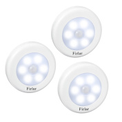 3PCS Motion Sensor Light,Firlar Stick-Anywhere Battery-Powered Universal LED Night Light