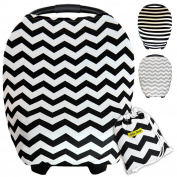 Multi-Use Baby Car seat Cover Canopy | Nursing Cover | Stretchy Unisex CarSeat Covers