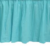 Zack & Tara Crib Skirt - Aqua