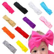 FEITONG 11PC Baby Newborn Toddler Headband Hairband Elastic Bowknot Photography