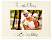 Malden Glazed Ceramic Bling Bling I Got the Ring Picture Frame, 10cm by 15cm