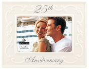 Malden Glazed Ceramic 25th Anniversay Picture Frame
