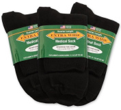 Extra-Wide Medical (Diabetic) Quarter Socks for Men and Women (11-16 (Men), Black) by Extra Wide Sock Co