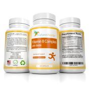 B-Complex Multivitamin Formula includes Vitamins B6, B12, Thiamine, Folic & Pantothenic Acid, Biotin, Niacin, Riboflavin, Choline, and Inositol To Support Natural Energy Production – 60 Capsules