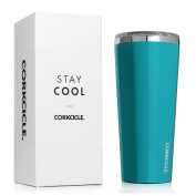 Corkcicle Tumbler Insulated Stainless Steel Bottle/Thermos, 710ml, Gloss Biscay Bay