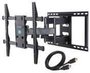 Mounting Dream MD2298 Premium TV Wall Mount Bracket with Full Motion Articulating Arm for most 42-180cm LED, LCD and Plasma TV up to VESA 600x 400mm and 60kg Fits Wood Stud Spacing up to 60cm