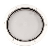 Beckson DP81-W- White 8 Clear Centre Pry-Out Deck Plate Marine RV Boating Accessories