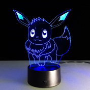AIBULB NEW Pokemon Go EEVEE Collection Game Figure Toys Pokemon Pikachu Model 3D Night Light Colour Change Pokemon Toys Gift Drop Shipping