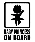 LESO© Baby Princess on Board Black Decal Hunting Car Sticker