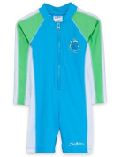 SunBusters Girls L/S Sunsuit(UPF 50+), Blueberry/Lime, 2/3 yrs Size: 2-3 Years Colour