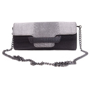 Women's Leather Clutches Handbag Fashion Snake Skin Evening Bag Patry Prom Wedding Clutch Purse with Shoulder Strap