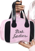 Ladies Film & Tv Grease Licenced Fancy Party Lady Bowling Bag With Logo Pink
