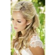OverDose Women Handmade Pearl Head Chain Jewellery Headband Headpiece Hair Band