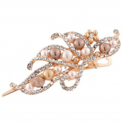 OverDose Vintage Jewellery Crystal Hairpins Fashion Women Pearl Duckbill Clip Beauty Tools