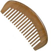 Wide Tooth Wooden Comb Medium Tooth Green Sandalwood Pocket Comb