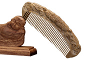 Icegrey Natural Handmade Engraving Sandalwood Hair Comb Beard Brush Monk