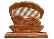 Icegrey Wave Shape Sandalwood Wooden Hair Comb