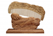 Icegrey Love of Rose Sandalwood Handmade Hair Comb Monk