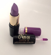 PLUM semi matt Lipstick and Lipgloss New Eve Trendy 2 in1 Match it 15ml Cosmetic Duo Makeup set PLU 2