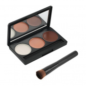 Makeup - 3 Colour Palette for Contouring | Contour/Blush/Highlight by RIVENBERT
