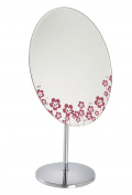 Fancy Metal Goods Oval Dressing Table/Bathroom Mirror with Heart Decoration