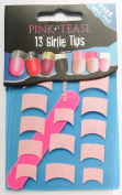 Pink Tease Nail Tip Foils - Pack Of 13 Girlie Wrap Tips - Soft Baby Pink