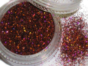 """'""""Glamour Glitter approx. Minute 2G # 563 Evening Red Holografic"""