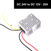 DC 24v to DC 12v 20A 240W Power Supply Adapter Step Down Converter Voltage Changer Reducer Regulator for Auto Car Truck Vehicle Boat Solar System etc.