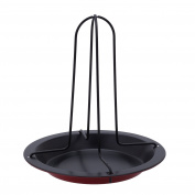 Non-Stick Upright Vertical Chicken Roasting Poultry BBQ Roaster Tray Rack Bowl Pan Baking Dish