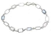 Gemstone Jewellery Blue Quartz Bracelet Blue Quartz Stone Clear Quartz Bracelet